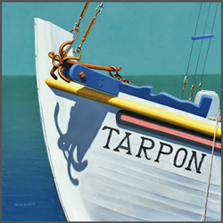 Tarpon Springs Fishing Boat - Nance Danforth Paintings