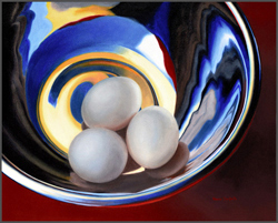 Eggs In Silver Bowl - Nance Danforth Paintings
