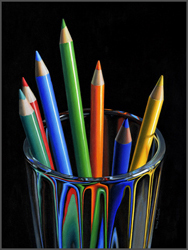 Colored Pencils In Glass - Nance Danforth Paintings