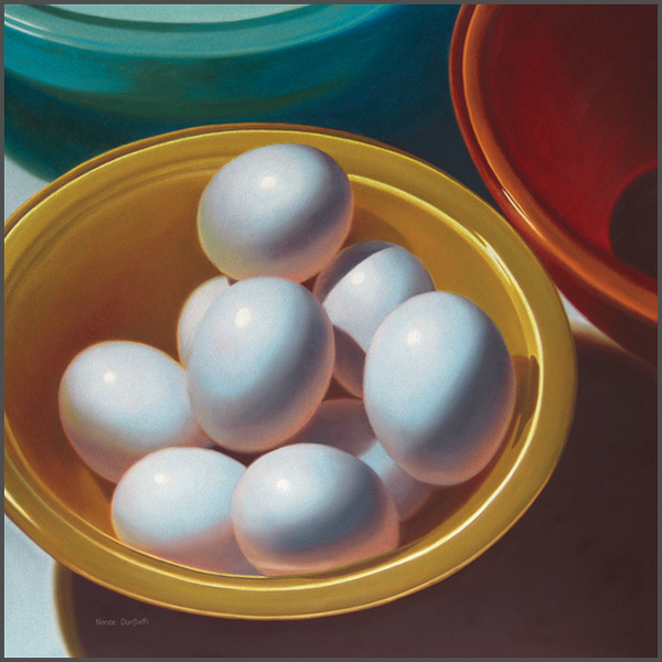 Eggs In Colored Bowls - Nance Danforth Paintings