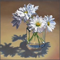 White Daisies In Jar - Nance Danforth Paintings
