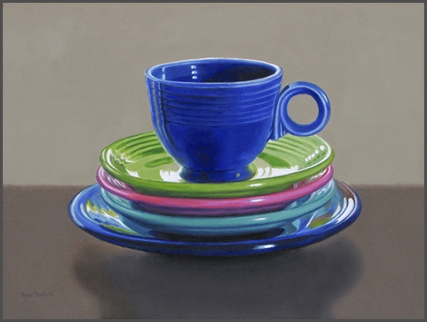 Fiesta Cup With Plates - Nance Danforth Paintings