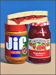 Peanut Butter Sandwich - Nance Danforth Paintings