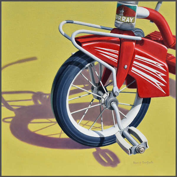 Reto Red Tricycle - Nance Danforth Paintings