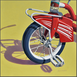 Retro Red Tricycle - Nance Danforth Paintings