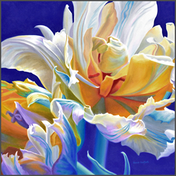 Ruffled Parrot Tulips - Nance Danforth Paintings