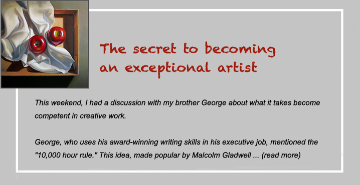 the secret to becoming an exceptional artist
